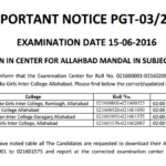 Admit Card UPSESSB TGT PGT 2011 Exam 2016 Exam Date : Latest News, Answer key
