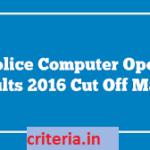 Uttar Pradesh Police Exam Result 2016 : Cut off, Merit list